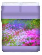 Summer Impression Series Panorama - Flowers Duvet Cover by Ranjay Mitra