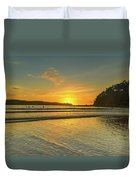 Sunrise Seascape From The Beach Duvet Cover