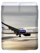 Travel Service Boeing 737-8cx Duvet Cover