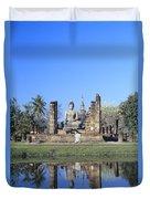 Wat Mahathat Duvet Cover