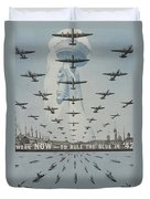 World War II Advertisement Duvet Cover