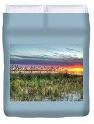 Yorktown Beach At Sunrise Duvet Cover
