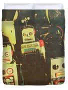 60s Cartoon Character Robots Duvet Cover