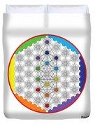 64 Tetra Chakra Activation Grid Duvet Cover