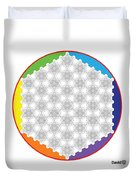 64 Tetra Flower Of Life Duvet Cover