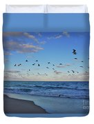 65- Black Skimmers Duvet Cover