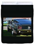 67 Mustang Fastback Duvet Cover