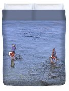 69- Paddle Boarders Duvet Cover