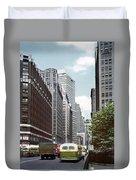 6th Avenue New York 1950 Duvet Cover