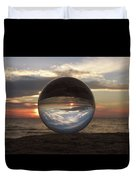 7-24-16--4250 Don't Drop The Crystal Ball, Crystal Ball Photography Duvet Cover
