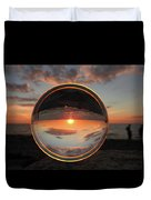 7-26-16--4577 Don't Drop The Crystal Ball, Crystal Ball Photography Duvet Cover