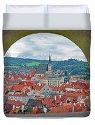 A View Of Cesky Krumlov In The Czech Republic Duvet Cover
