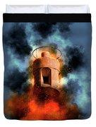 Air Raid Siren Duvet Cover