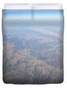 An Aerial View Of Ohio Duvet Cover