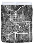 Atlanta Georgia City Map Duvet Cover