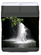 Australia - Peering Into Natural Arch Waterfall Duvet Cover