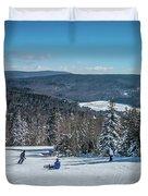 Beautiful Nature And Scenery Around Snowshoe Ski Resort In Cass  Duvet Cover