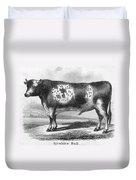 Cattle, 19th Century Duvet Cover
