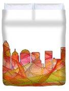 Charlotte Nc Skyline Skyline Duvet Cover