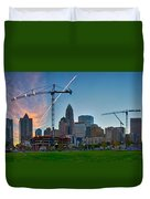 Charlotte North Carolina Early  Morning Sunrise Duvet Cover