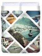 Collage Of Rio De Janeiro Duvet Cover