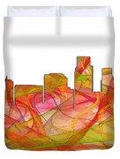 Corpus Christi Texas Skyline Duvet Cover