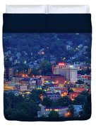 Downtown Morgantown And West Virginia University Duvet Cover