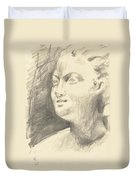 Drawing Of Ancient Sculpture Duvet Cover