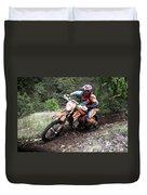 Enduro Race  Duvet Cover