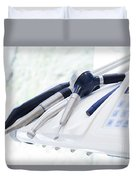 Equipment And Dental Instruments In Dentist's Office Duvet Cover