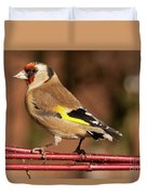 European Goldfinch Bird Close Up   Duvet Cover