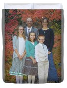 Family Pictures Duvet Cover