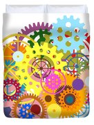 Gears Wheels Design  Duvet Cover