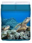 Hawaii, Green Sea Turtle Duvet Cover