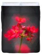 Jatropha Blossoms Painted Duvet Cover