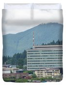 Juneau Alaska Usa Northern Town And Scenery Duvet Cover