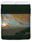 7- Juno Beach Pier Duvet Cover