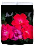 Knockout Roses Painted  Duvet Cover