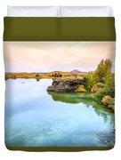 Lake Myvatn Duvet Cover