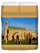 Lindisfarne Priory Duvet Cover
