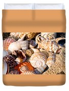 Mix Group Of Seashells Duvet Cover