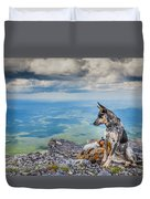 Mount Black Rock Duvet Cover