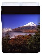 Mount Fuji In Autumn Duvet Cover