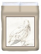 Mourning Dove, Animal Portrait Duvet Cover