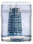 On Deck Of Huge Cruise Liner Ship From Seattle To Alaska Duvet Cover