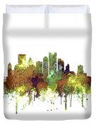 Pittsburgh Pennsylvania Skyline Duvet Cover