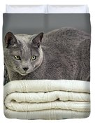 Russian Blue Duvet Cover