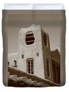 Santa Fe - Adobe Building Duvet Cover