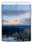 Spencer Butte Winter Summit, Eugene Oregon Feb 2018 Duvet Cover