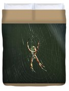 Spider On A Web Duvet Cover